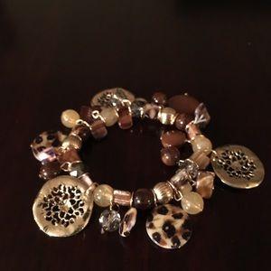Gold/brown/tan bracelet
